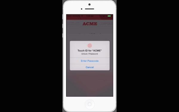 1Password on iOS 8 Demo