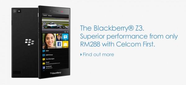 Celcom BlackBerry Z3