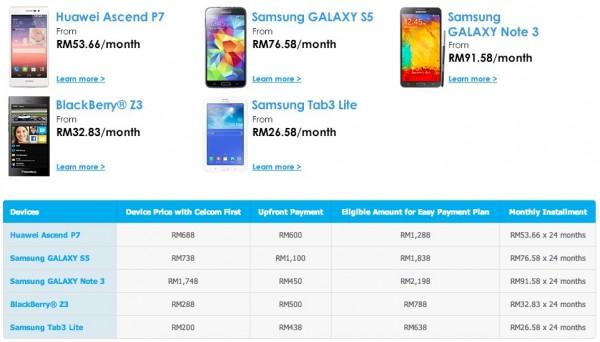 Celcom EPP Raya Listed Devices