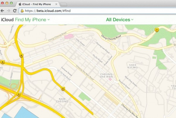 Find My iPhone Beta Apple Maps