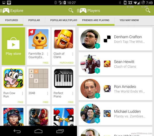 Google Play 2.0 Update