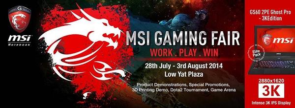 MSI gaming fair FB