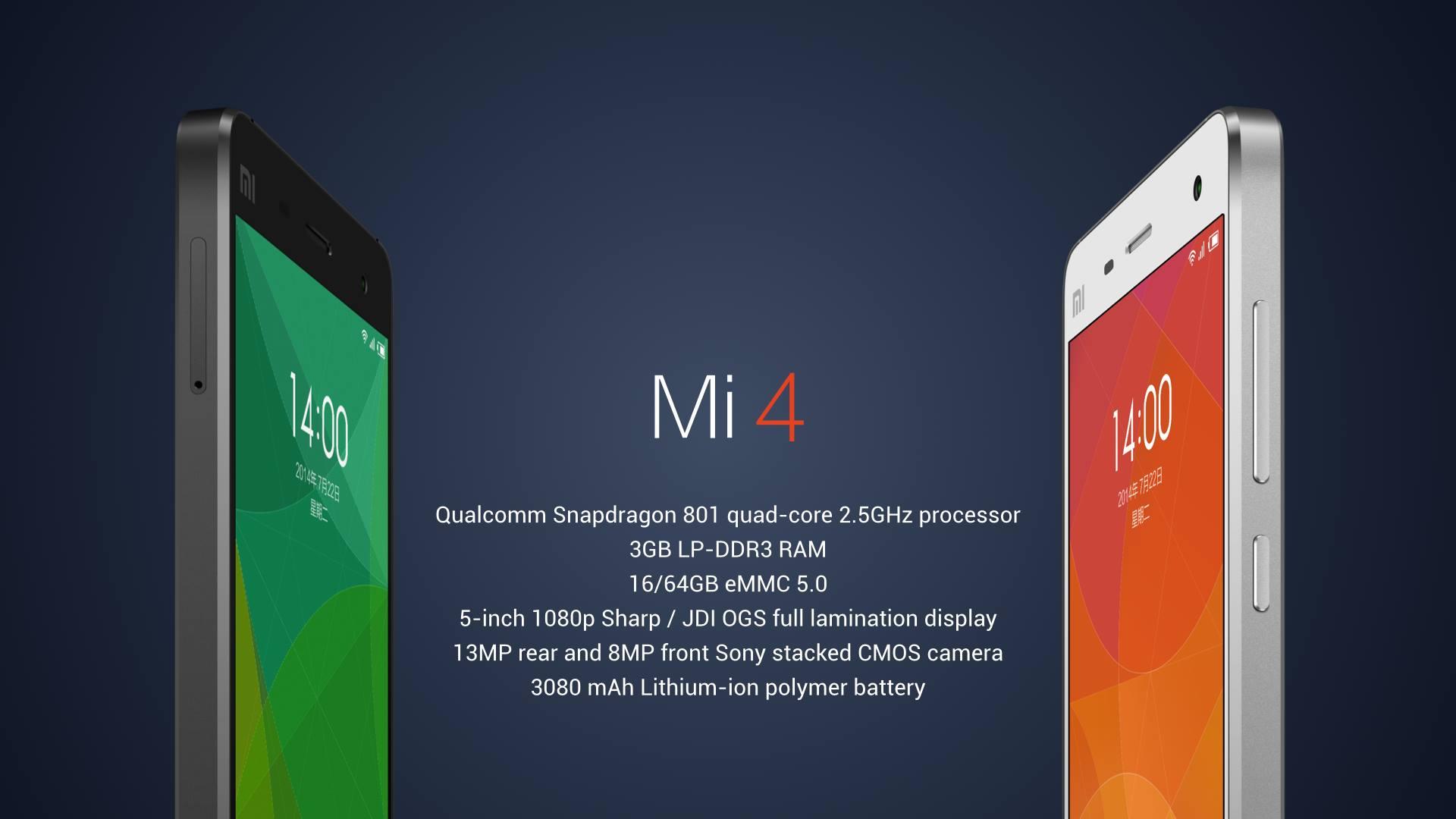 Update Mi 4 Vs Mi 3 Spec Sheet Is The Xiaomi Mi 4 The