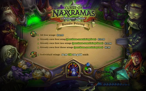 Naxxramas Pricing