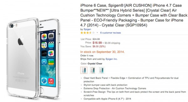 Spigen iPhone 6 Listing on Amazon
