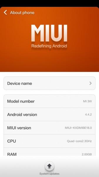 Xiaomi mi 3 android kit kat update malaysia
