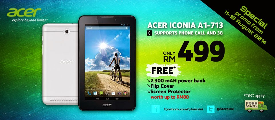 5af1c7c084b Acer Iconia Tab 7 Quad-Core Tablet Now In Storekini  Features Voice ...