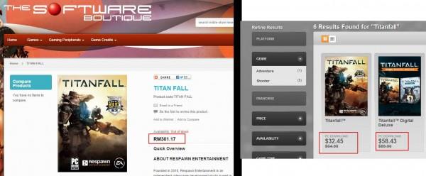 Titanfall: TSB Price vs Origin