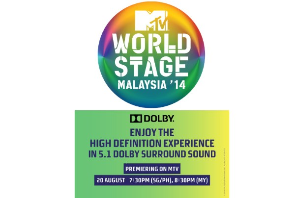 MTV World Stage Malaysia 2014 On MTV Asia, with 5.1 Dolby Surround Sound