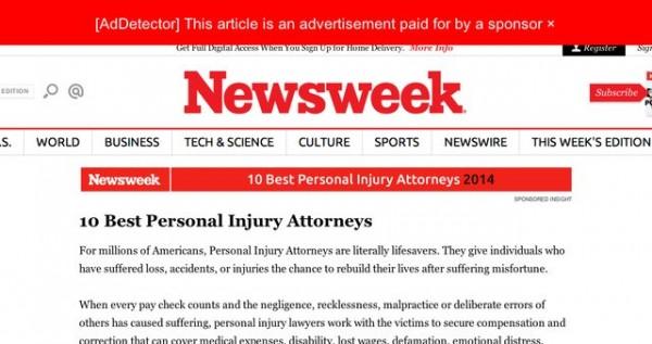AdDetector Newsweek