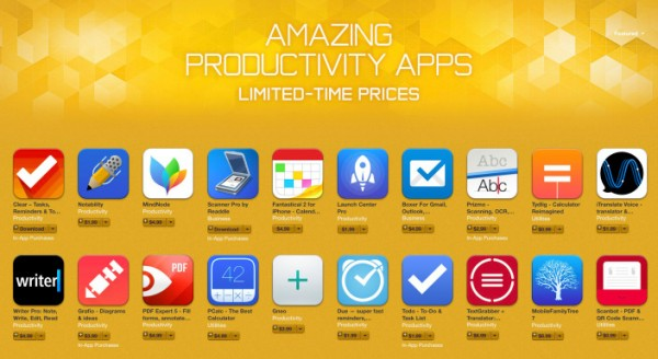 Apple Amazing Productivity Apps Sale
