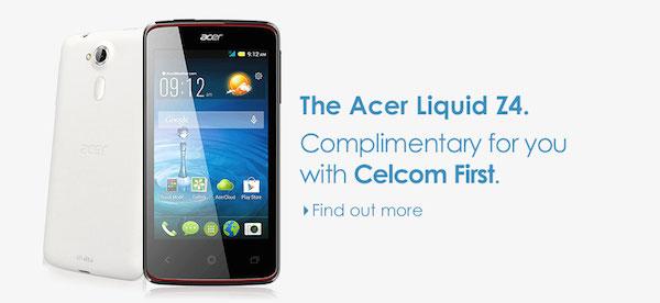 Celcom Acer Liquid Z4
