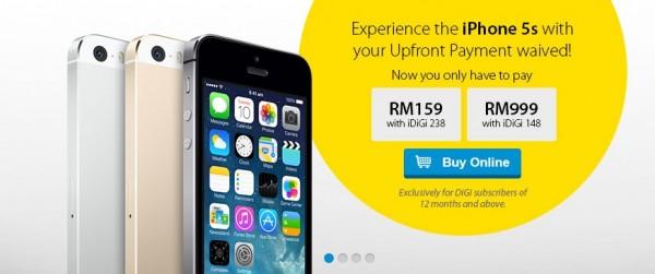 DiGi iPhone 5s advance payment waiver