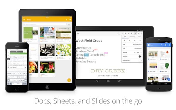 Google Docs Sheets SLides App