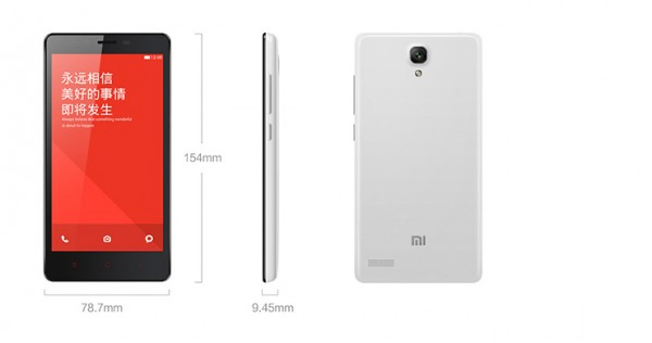 Redmi Note Dimensions