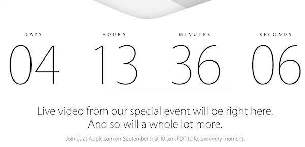 Apple 9 September Live Stream