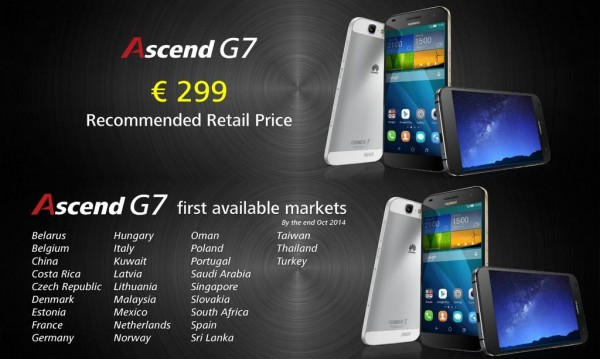Ascend G7 Coming to Malaysia
