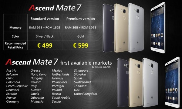 Ascend Mate 7 Coming to Malaysia