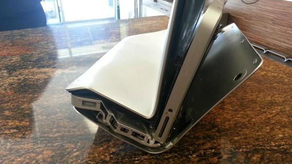 Bent macbook pro