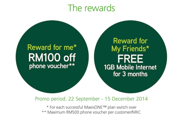 Maxis Referral Program Rewards