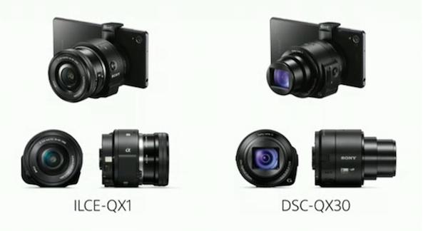 Sony QX1 and QX30
