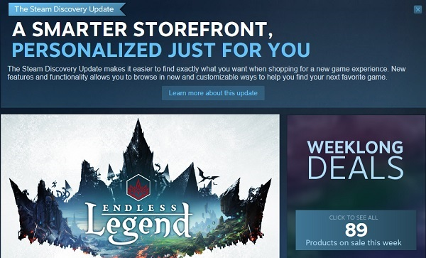 Steam new Storefront