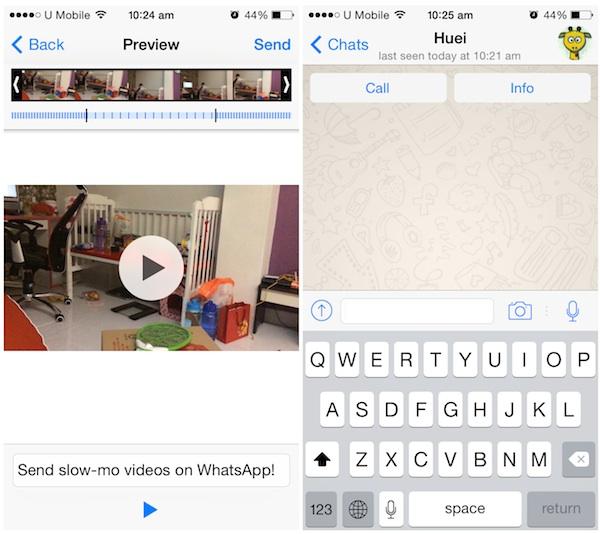Whatsapp on iOS update