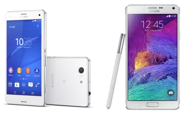 Xperia Z3 and Galaxy Note 4