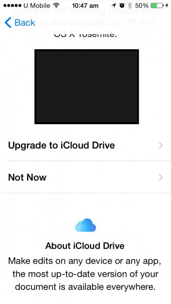 iCloud Drive NO