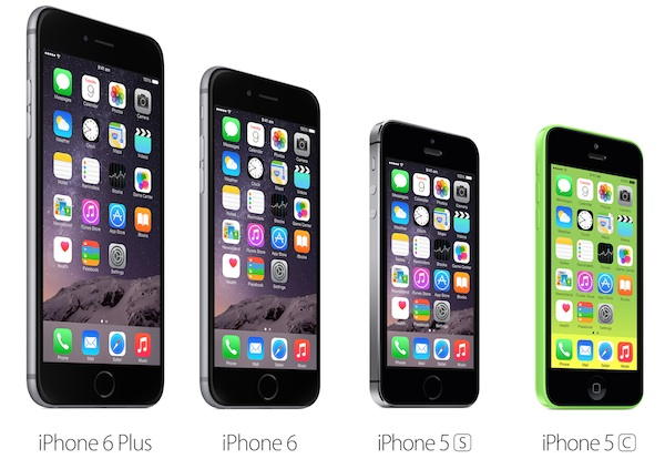 iPhone 6 vs iPhone 6 Plus vs iPhone 5s vs iPhone 5c