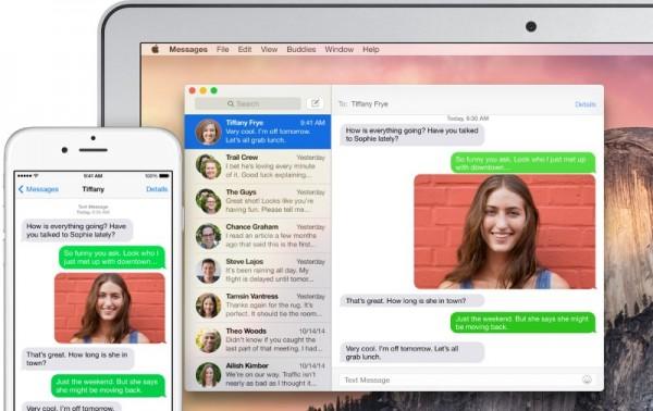 SMS Handoff - Apple OS X Yosemite Continuity