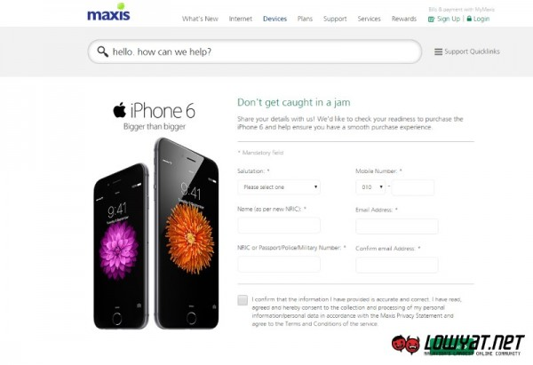 Maxis Pre-Sale Check for iPhone 6 and iPhone 6 Plus