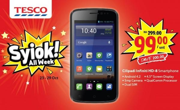 Cilipadi Infiniti HD-8 Smartphone Deal, Tesco Malaysia