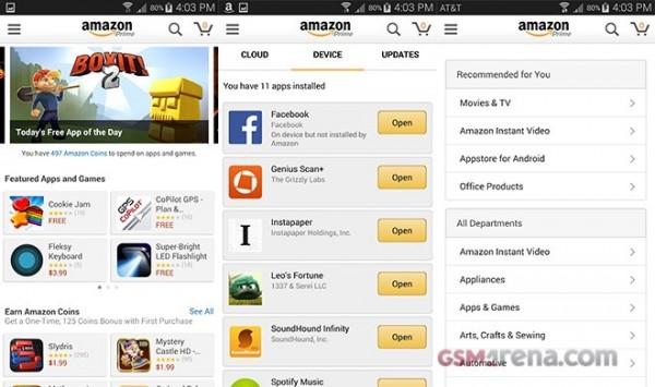 Amazon Appstore integrated into Amazon App