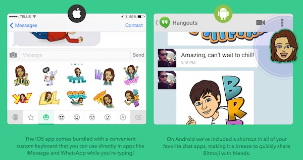 Bitmoji for Android and iOS