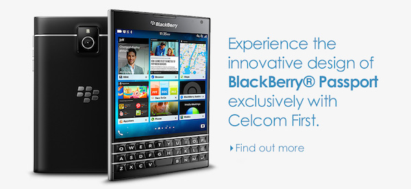 Celcom BlackBerry Passport