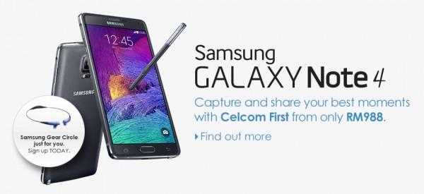Celcom Samsung Galaxy Note 4