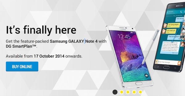 DiGi Samsung Galaxy Note 4 from RM1169