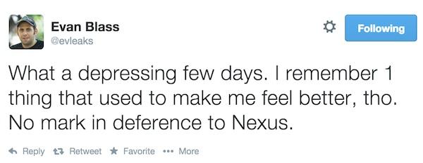 Evleaks Nexus 6 Tweet