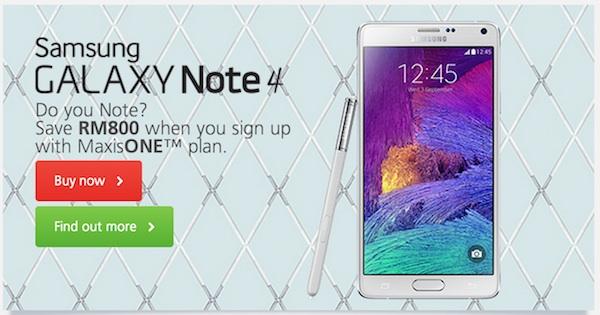 Maxis Samsung Galaxy Note 4