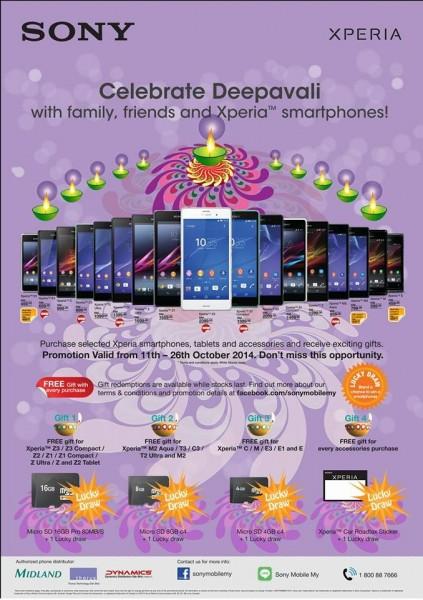 Sony Malaysia Deepavali promotion poster