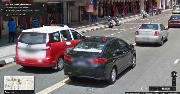 Street View Blurred Plates