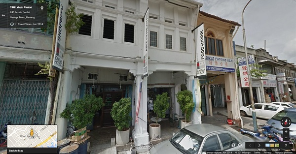 Street View Chinahouse Penang