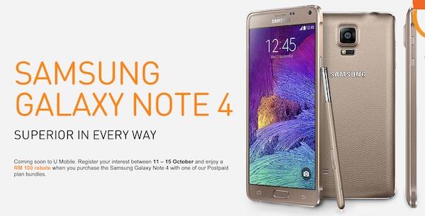 U Mobile Samsung Galaxy Note 4 ROI