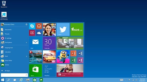 Windows 10 Start bar 2