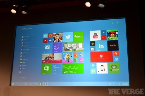 Windows 10 touch Start menu