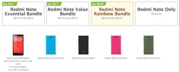 Xiaomi redmi Note Bundle