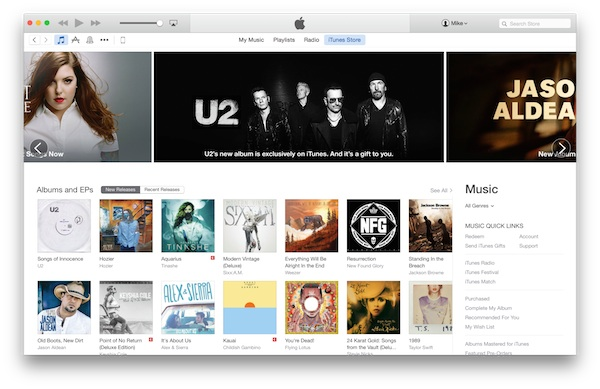 iTunes Store Redesign Flatter Look
