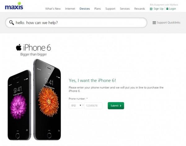 maxis-iphone-6-malaysia-pre-order
