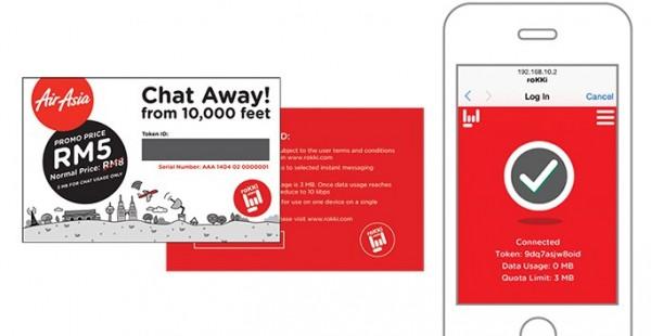 AirAsia RoKKI Chats Inflight Wi-Fi Service